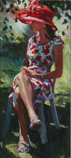 Sherree Valentine-Daines painting by Sherree Valentine-Daines B. 1956 GLORIOUS GOODWOOD