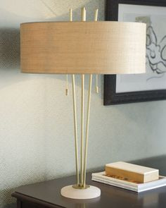 """Shop """"Jensen"""" Table Lamp at Horchow, where you'll find new lower shipping on hundreds of home furnishings and gifts. Tripod Lamp, Desk Lamp, Table Lamps, Mid Century Style, Home Lighting, Hearth, Light Up, Floor Lamp, House Warming"""