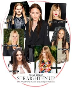 Straight hair is back like it's 1996. Would you rock pin-straight locks?