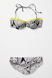 Anthropologie--Newsprint Bikini