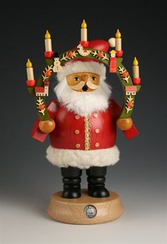 Santa with Christmas Candle Arch German Smoker by Mueller available at #Binns of Williamsburg