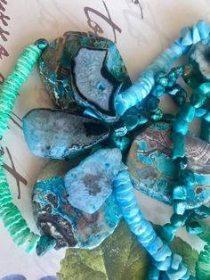 Shades of sky Hanukkah, Turquoise Necklace, Shades, Sky, Wreaths, Handmade, Jewelry, Home Decor, Heaven