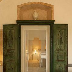 "Critabianca on Instagram: ""The Stallion's Room : stone, light and silence. #critabianca #salento #history #masseria #smallhotels #charming #green #door #stone #light…"" Sweet Home, Doors, Mirror, Stone, Interior Design, Architecture, Gallery, Furniture, Instagram"