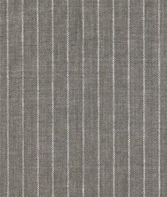 Shop  Gray Pinstripe Chambray Linen Fabric at onlinefabricstore.net for $25.7/ Yard. Best Price & Service.