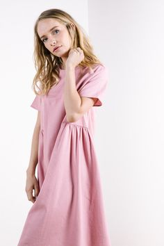 The Elba Dress in Dusty Rose
