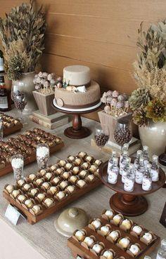 Chá Bar 80th Birthday, Birthday Parties, Birthday Decorations, Wedding Decorations, Deco Baby Shower, Ideas Para Fiestas, Holidays And Events, Dessert Table, Event Decor