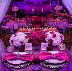 #SweetHeartTable #PurpleWedding - #CaliforniaWeddings At: www.FresnoWeddings.Net