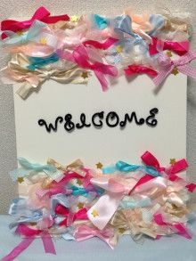 結婚式ウェルカムボード淡いリボン - Google 検索