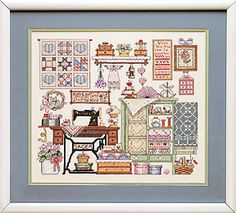 Cozy Sewing Room Stamped Cross Stitch kit