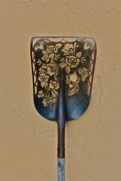 Plasma cut, re-used shovel. www.amberdenison.com