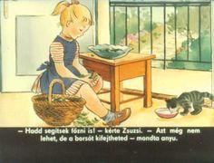 Zsuzsi segít anyukának Art, Painting