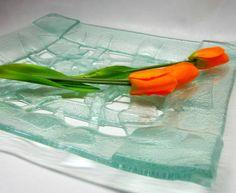 Prato decorativo em vidro Peça Única Para decoração e presentes Vidro Incolor R$ 76,00