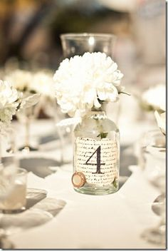 Great table number ideas