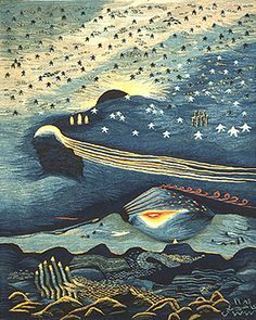 """""""Creation of the World, Part 1"""" 1984, wool tapestry, 1.15m x 1.5m Ramses Wissa Wassef Art Centre, Giza, Egypt"""