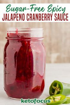 Spicy Cranberry Sauce, Cranberry Recipes, Sugar Free Cranberry Sauce, Thanksgiving Side Dishes, Thanksgiving Recipes, Holiday Recipes, Winter Recipes, Sauce Recipes, Keto Recipes