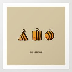 BEE DIFFERENT Art Print by Huebucket - $22.88 #bedifferent #individuality