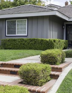 Gray is a popular color for exteriors, however, selecting the right gray can be overwhelming. Grey Exterior, Exterior House Colors, Shades Of Grey Paint, Gray Paint, Behr Paint Colors, Paint Your House, Coastal Colors, Painted Floors, Terracotta Pots