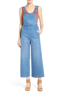 These culotte overalls combine two of the hottest trends for a chic 70's vibe.