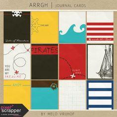 Arrgh! - Pirate Journal Cards Kit | pocket cards, journal cards, project life, printable, scrapbooking, digital scrapbooking