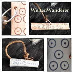 needle case, rings and dots