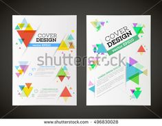 Annual Report Brochure Design Template Vector Leaflet Cover