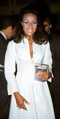 Diahann Carroll in a classic white dress