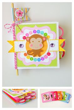 Doodlebug 3x3 Create-A-Card mini album  By Stephanie Buice