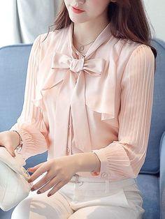 Damen Mode Kariertes Halbhoher Kragen Baumwolle Hemd Bluse Shirt Tops Oberteile