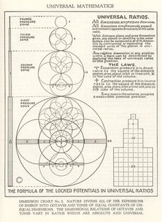 walter russell dimension chart - measurement
