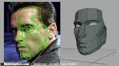 Resultado de imagem para face modeling topology