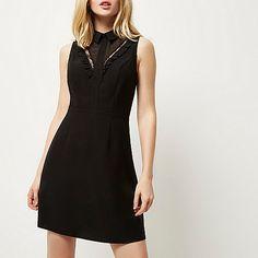Black lace and frill dress - day / t-shirt dresses - dresses - women