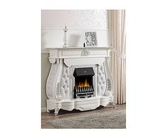Faux fireplace finto camino luigi xv con camino elettrico for Finto camino natalizio