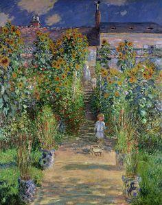 Claude Monet Monet S Garden At V Theuil 1880