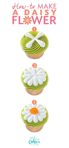 Only two tips are needed to make a buttercream daisy: Piping Tip #221 and Piping Tip #12.