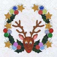 BALTIMORE SPRING QUILT...........PC........P3-1609 Reindeer Wreath