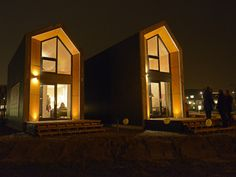オランダの建設会社Heijmans社による、オシャレな外観の低コスト住宅「Heijmans ONE」。社会人になったばかりの若い独身者を想定したプレハブ住宅だ。