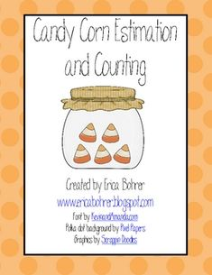 Candy Corn Estimation and Counting - FREE! Halloween Math, Theme Halloween, Halloween Activities, Halloween Candy, Happy Halloween, Holiday Activities, Halloween Ideas, Classroom Freebies, Math Classroom