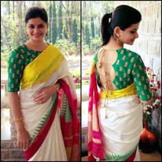Looking for stylish blouse designs for sarees? Here are chic blouse models with fancy neck and sleeve designs that you can wear with any saree. Blouse Back Neck Designs, Cotton Saree Blouse Designs, Fancy Blouse Designs, Blouse Patterns, Skirt Patterns, Coat Patterns, Dress Designs, Clothes Patterns, Sewing Patterns