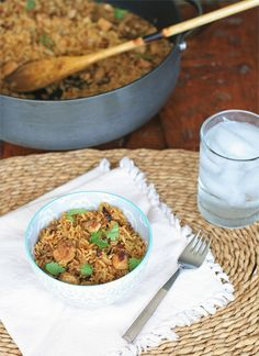 Nepali Chicken Fried Rice.  A great last minute, one-pot meal!