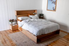 Al and Imo Custom Timber Furniture Bed Headboard Storage, Bed Frame With Storage, Headboards For Beds, Timber Furniture, Pallet Furniture, Bedroom Furniture, Bedroom Decor, Furniture Ideas, Bedroom Ideas