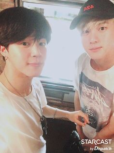 Jimin and Jin ❤ STARCAST By Dispatch Photo (Bangtan in New York Pictures) #BTS #방탄소년단