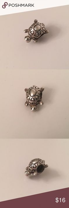Pandora Sterling Silver turtle charm Authentic Pandora Sterling Silver turtle charm. Retired. Will consider reasonable offers. Pandora Jewelry