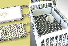 Crib bumpers with jumbo piping