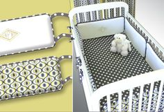 Crib bumpers with jumbo piping