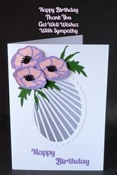 Floral Oval Card with Various sentiments on Craftsuprint - View Now!