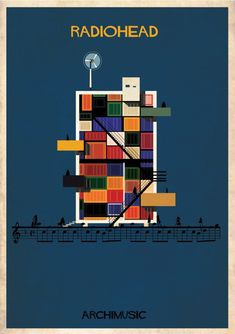 "ARCHIMUSIC: Illustrations Turn Music Into Architecture - Federico Babina / Radiohead, ""No Surprises"""