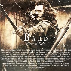 I am eager to find out what sort of character Bard is in the movie!