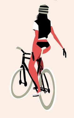 Source: thorstenhasenkamm>>>The artist has got it completely. Nice clean lines and all in perfect balance. Love it! Thanks to Mme Velo for sharing this pin. MAKETRAX.net - Bicycle ART: