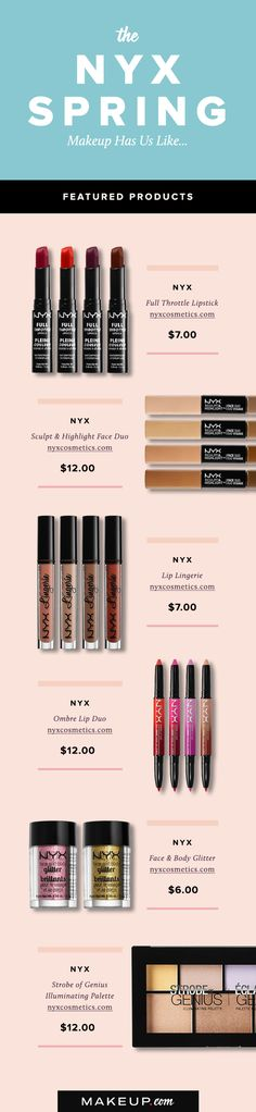 The NYX spring makeup has arrived and we are obsessed! We love everything about the latest makeup from NYX cosmetics, so see our picks now!