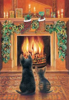 Expectations 500 PC Jigsaw Puzzle -christmas Theme- by SunsOut for sale online Christmas Scenes, Christmas Animals, Christmas Cats, Christmas Pictures, Christmas Time, Merry Christmas, Christmas Drawing, Christmas Paintings, Les Moomins